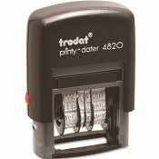 TRODAT 1-5/8 IN. X 3/8 IN. ECONOMY STAMP, DATER, SELF-INKING, BLACK
