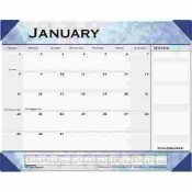 AT-A-GLANCE MARBLEIZED 22 IN. X 17 IN. MONTHLY DESK PAD CALENDAR, SLATE BLUE