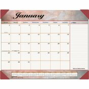 AT-A-GLANCE AT-A-GLANCE MARBLEIZED MONTHLY DESK PAD CALENDAR, 22 X 17, BURGUNDY
