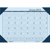 HOUSE OF DOOLITTLE ECOTONES ACADEMIC DESK PAD CALENDAR, 18-1/2W X 13D, BLUE SHEETS/BLUE CORNERS
