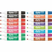 EXPO LOW ODOR DRY ERASE CHISEL TIP MARKERS, ASSORTED