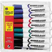 AVERY DENNISON AVERY DESK STYLE DRY ERASE MARKERS, CHISEL TIP, ASSORTED, 24/PACK