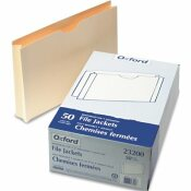ESSELTE PENDAFLEX CORP. PENDAFLEX DOUBLE-PLY TABBED FILE JACKET WITH TWO INCH EXPANSION, LEGAL, MANILA, 50/BOX
