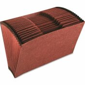 CARDINAL BRANDS INC. ACCORDION OPEN TOP FILE, 21 POCKETS, 1/3 TAB, LEGAL, BROWN