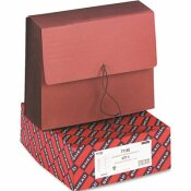 SMEAD MFG. TUFF SEVEN INCH EXPANSION WALLETS, MANILA/REDROPE, LETTER