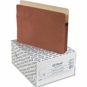 ESSELTE PENDAFLEX CORP. PENDAFLEX 3 1/2 INCH EXPANSION FILE POCKET, MANILA/RED FIBER, LETTER, 25/BOX