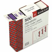 SMEAD MFG. A-Z COLOR-CODED BAR-STYLE END TAB LABELS, LETTER H, LAVENDER, 500/ROLL