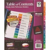 AVERY READY INDEX CONTEMPORARY TABLE OF CONTENTS DIVIDER 1-10 LETTER