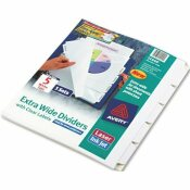 AVERY DENNISON AVERY INDEX MAKER CLEAR LABEL DIVIDERS, 5-TAB, 11 1/4 X 9 1/4, 5 SETS