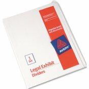AVERY DENNISON AVERY BLANK TAB LEGAL INDEX DIVIDER SET, 25-TAB, LETTER, WHITE, SET OF 25