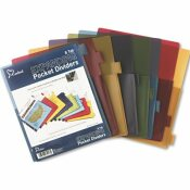 CARDINAL BRANDS INC. POLY EXPANDING POCKET INDEX DIVIDERS, 8-TAB, LETTER, ASSORTED, 8/SET