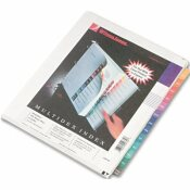 WILSON JONES CO. MULTI-DEX QUICK REFERENCE INDEX, ASSORTED COLOR 12 MONTH TABS, LETTER
