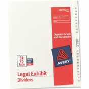 AVERY DENNISON AVERY AVERY-STYLE LEGAL SIDE TAB DIVIDER, TITLE: 51-75, LETTER, WHITE, 1 SET