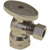 PREMIER QUARTER TURN ANGLE STOP, 1/2 IN. IPS X 1/2 IN. SLIP JOINT, LEAD FREE