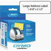 DYMO ADDRESS LABELS, 1-2/5 X 3-1/2, WHITE, 520/BOX