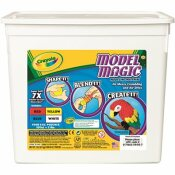 CRAYOLA CRAYOLA MODEL MAGIC MODELING COMPOUND, 8 OZ EACH BLUE/RED/WHITE/YELLOW, 2LBS