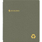 AT-A-GLANCE AT-A-GLANCE RECYCLED MONTHLY PROFESSIONAL PLANNER, 13 MONTHS (JAN-JAN), BLACK COVER