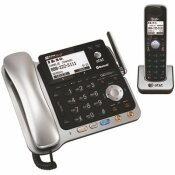 AT AND T DECT 6.0 2-LINE CORDED/CORDLESS BLUETOOTH PHONE SYSTEM