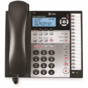 AT AND T VTECH 1080 CORDED 4-LINE EXPANDABLE TELEPHONE, CALLER ID AND ANSWERING MACHINE