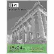 DAX MFG. U-CHANNEL POSTER FRAME, CONTEMPORARY W/PLEXIGLAS WINDOW, 18 X 24, CLEAR