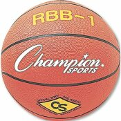 CHAMPION SPORT RUBBER SPORTS BALL, FOR BASKETBALL, NO. 7, OFFICIAL SIZE, ORANGE