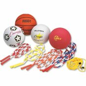 CHAMPION SPORT CHAMPION SPORT PHYSICAL EDUCATION KIT W/SEVEN BALLS, 14 JUMP ROPES, ASSORTED COLORS