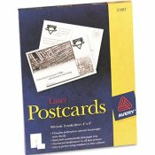 AVERY DENNISON AVERY AVERY LASER POSTCARDS, 4 X 6, TWO PER SHEET, 100 CARDS/BOX