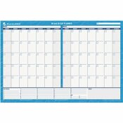 AT-A-GLANCE AT-A-GLANCE 30/60-DAY FORMAT REVERSIBLE/ERASABLE UNDATED WALL PLANNER, 48 X 32, BLUE/WHITE