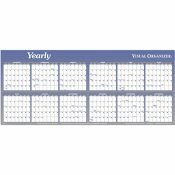AT-A-GLANCE AT-A-GLANCE WRITE-ON/WIPE-OFF YEARLY WALL PLANNER IN TWO 6-MONTH SECTIONS, 60 X 26
