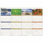 AT-A-GLANCE AT-A-GLANCE SEASONS IN BLOOM ERASABLE/REVERSIBLE QUARTERLY YEARLY WALL CALENDAR, 24 X 36