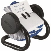 ROLODEX 1-3/4 IN. X 3-1/4 IN. OPEN ROTARY CARD FILE HOLDS 250 SHEETS, BLACK
