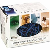 ALLIANCE SIZE 54 ANTIMICROBIAL RUBBER BANDS, SIZES 19 / 33 / 64 (MIXED), BLUE, 0.25-POUND BOX