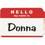 C-LINE PRODUCTS, INC PRESSURE SENSITIVE HELLO NAME BADGES, 2-1/4 X 3-1/2, RED, 100/BOX