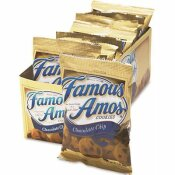 FAMOUS AMOS 2 OZ. CHOCOLATE CHIP, KELLOGG'S FAMOUS AMOS COOKIES, SNACK PACK (8-PACKS/BOX)