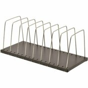 MMF INDUSTRIES WIRE DESKTOP ORGANIZER, EIGHT SECTIONS, 18 3/8 X 8 1/8 X 7 3/4, BLACK/SILVER