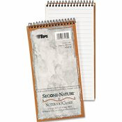 TOPS BUSINESS FORMS SECOND NATURE SPIRAL REPORTER/STENO NOTEBOOK, GREGG RULE, 4 X 8, WHITE, 70-SHEET