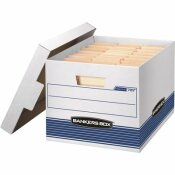 BANKERS BOX 10.5 IN. L X 12.8 IN. W X 16.5 IN. D QUICK/STOR STORAGE MOVING BOX