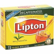 LIPTON DECAFFEINATED TEA BAGS (72-BAGS PER BOX)