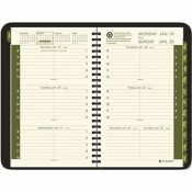 AT-A-GLANCE AT-A-GLANCE RECYCLED WEEKLY/MONTHLY DESK APPOINTMENT BOOK, 4-7/8 X 8, 12 MONTHS, BLACK COVER