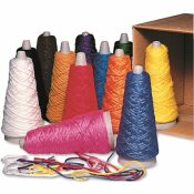 TRAIT-TEX DOUBLE WEIGHT YARN CONES, 2 OZ, ASSORTED COLORS, 12/CARTON