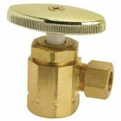 DURAPRO ANGLE STOP 1/2 IN. IPS X 3/8 IN. OD COMP POLISHED BRASS LEAD-FREE - DURAPRO PART #: LA 1PB LF