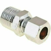 PROPLUS BRASS COMPRESSION COUPLING 3/8 IN. IPS X 3/8 IN. OD CHROME LEAD-FREE - PROPLUS PART #: LC 7LF