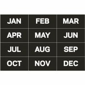 BI-SILQUE VISUAL COMMUNICATION PRODUCTS INC CALENDAR MAGNETIC TAPE, MONTHS OF THE YEAR, BLACK/WHITE, 2 IN. X 1 IN.