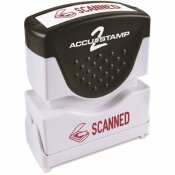 COSCO 1-5/8 IN. X 1/2 IN. ACCUSTAMP2 SHUTTER STAMP WITH MICROBAN SCANNED, RED
