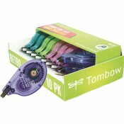 TOMBOW 1/6 IN. X 394 IN. MONO CORRECTION TAPE ASSORTED RETRO COLOR DISPENSERS (10-PACK)
