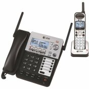AT AND T SYNJ 4-LINE DECT 6.0 CORDED/CORDLESS SMALL BUSINESS SYSTEM