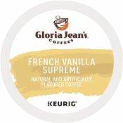 GLORIA JEAN'S FRENCH VANILLA SUPREME COFFEE K-CUPS (24 PER BOX)
