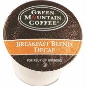 GREEN MOUNTAIN COFFEE BREAKFAST BLEND DECAF COFFEE K-CUPS (96 PER CARTON)