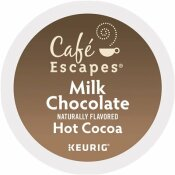 CAFE ESCAPES MILK CHOCOLATE HOT COCOA K-CUPS (24 PER BOX)