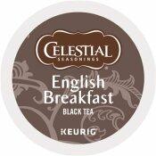 CELESTIAL SEASONINGS ENGLISH BREAKFAST BLACK TEA CAFFEINATED K-CUPS (24-BOX)